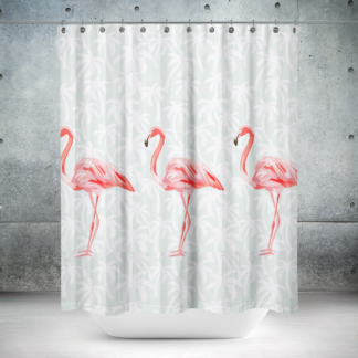 douchegordijn flamingo roomture